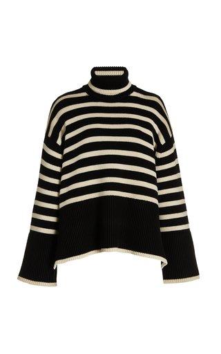 Signature Striped Wool-Blend Turtleneck Sweater