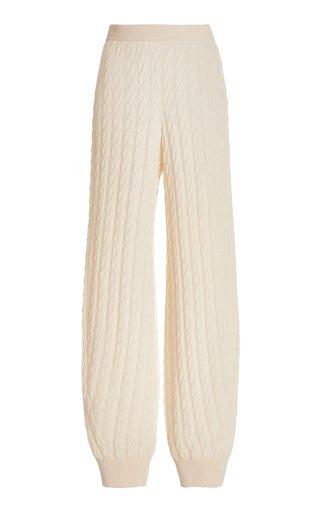 Cable-Knit Cashmere Jogger Pants