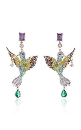 Hummingbird 18K Gold Vermeil Multi-Stone Earrings