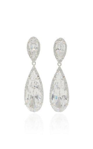 Mini Papillon 18K White Gold Vermeil Diamond Earrings