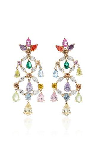 Rainbow 18K Gold Multi-Stone Earrings