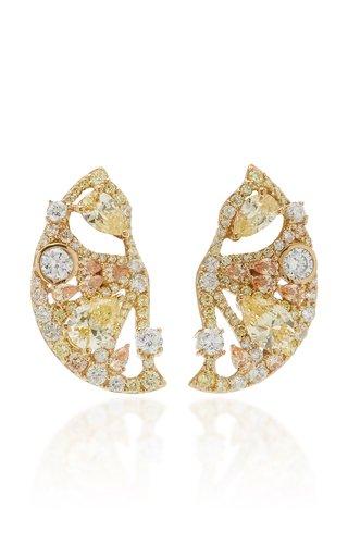 Lemon Slice 18K Yellow Gold Vermeil Multi-Stone Earrings
