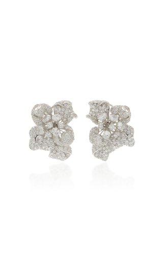 Bloomingdale 18K White Gold Diamond Earrings