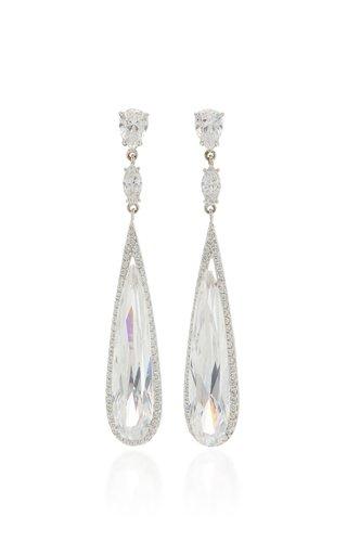 Shard 18K White Gold Vermeil Diamond Earrings