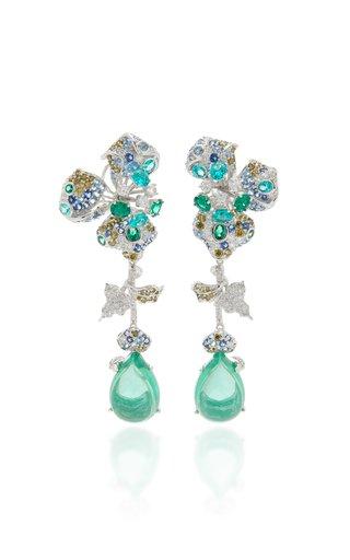 Orchid 18K White Gold Vermeil Multi-Stone Earrings