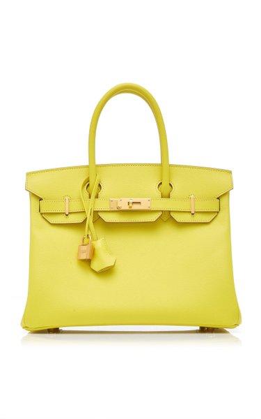 Hermès 30cm Lime Epsom Leather Birkin Bag