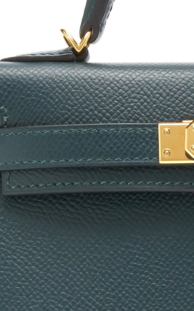 Hermès Vert Cypres Epsom Leather Mini Kelly Bag
