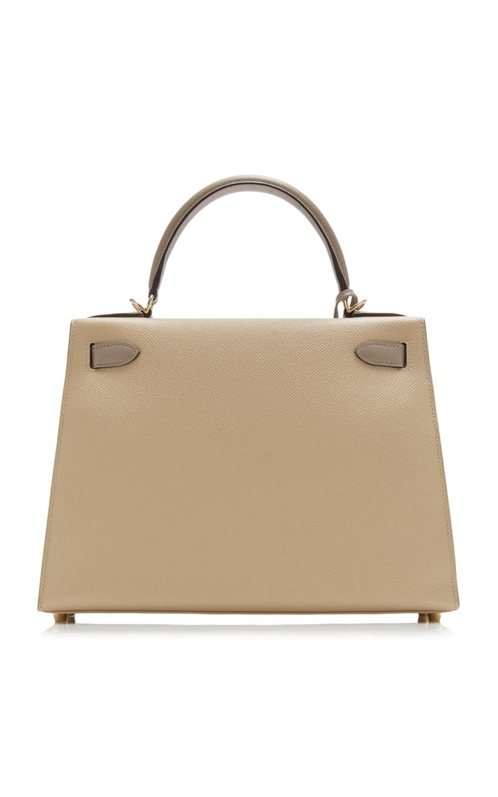 Hermès 28cm Trench & Gris Agate Epsom Leather HSS Kelly Bag