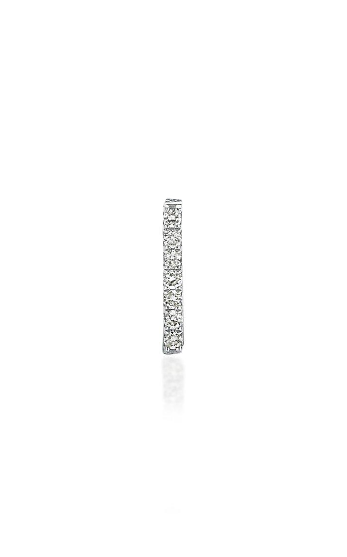 Stick 14K White Gold Diamond Single Earring