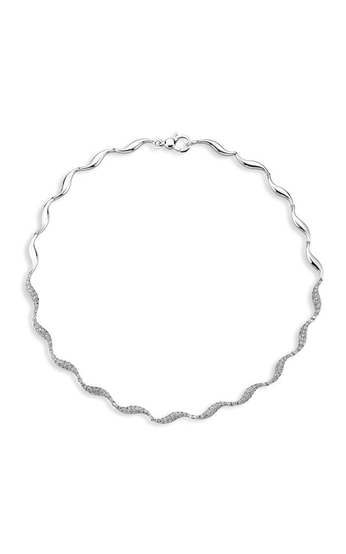Cintemani 18K White Gold Diamond Necklace