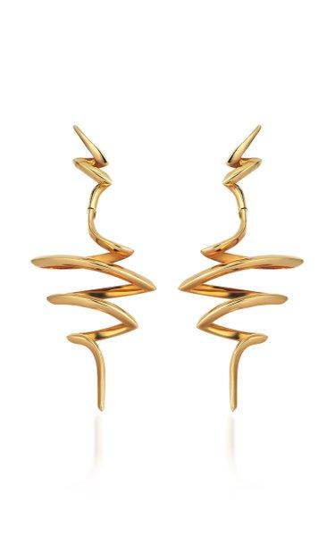 Cintemani 18K Yellow Gold Diamond Earrings