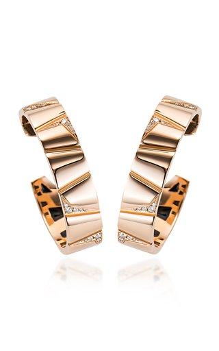 Theodora 18K Rose Gold Diamond Hoop Earrings
