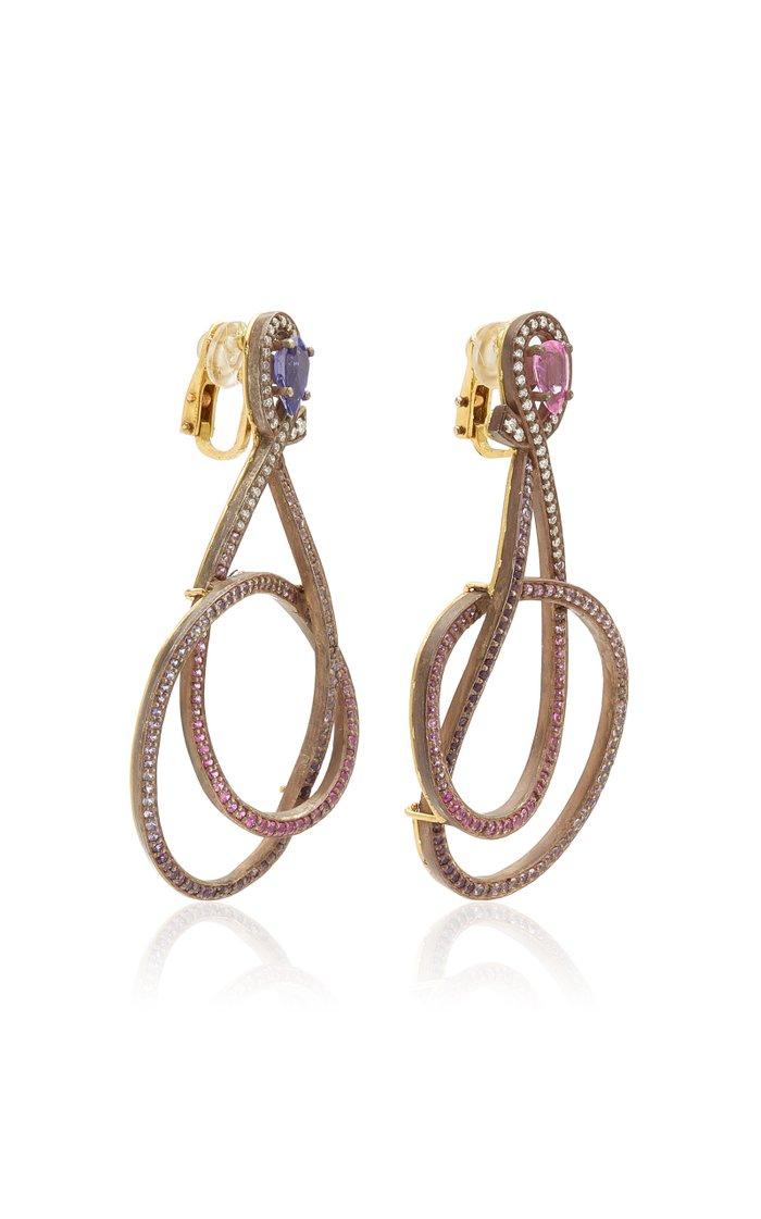 Pink & Purple Rainbow Earrings