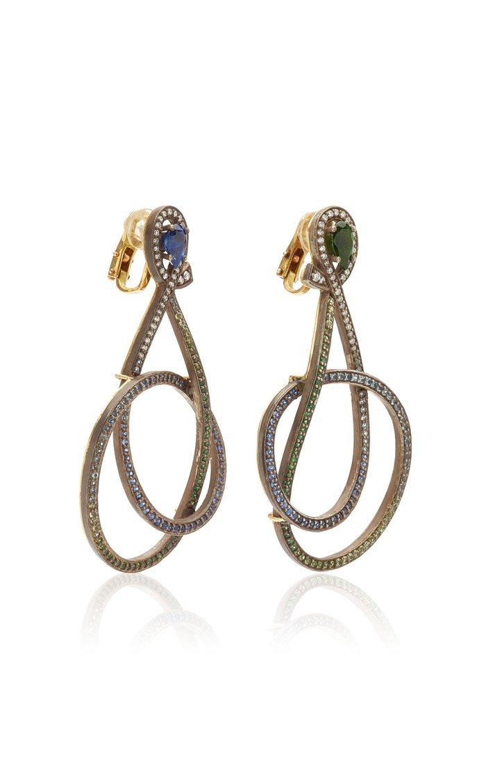 Green & Blue Rainbow Earrings