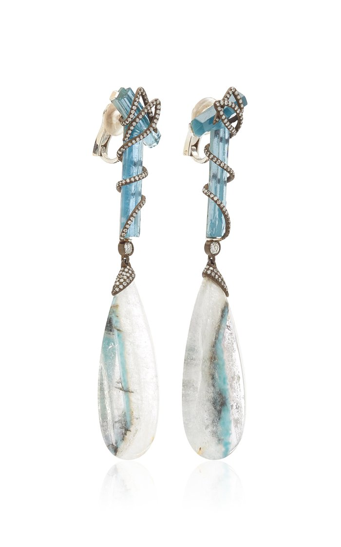 One of a Kind Apatite Earrings