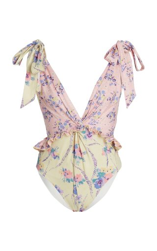 Demeter Ruffled Floral One-Piece Swimsuit