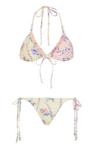 Harbor Printed String Bikini Set