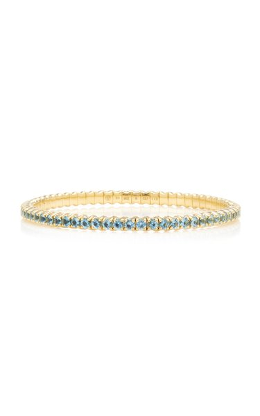 Fit For Life Jewels 18K Gold Aquamarine Bracelet