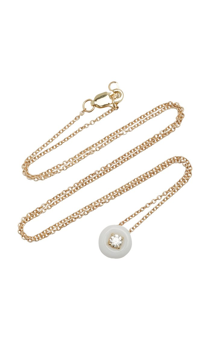 Belle Ciambelle 14K Gold Onyx and Diamond Necklace
