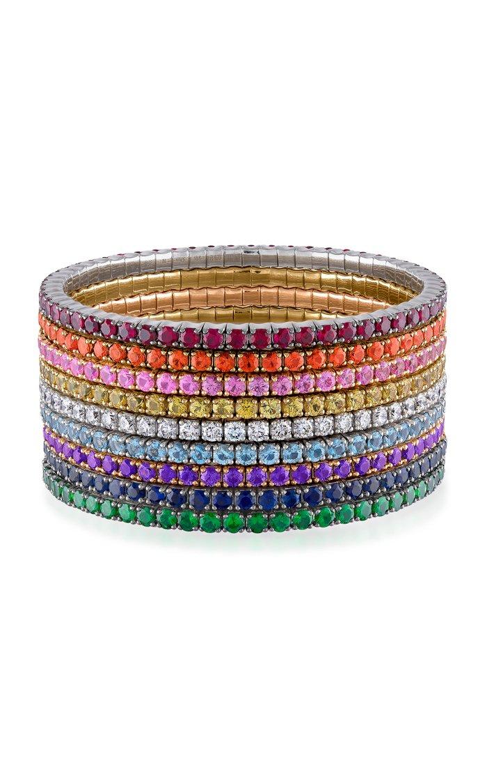 Fit For Life Jewels 18K Gold Purple Sapphire Bracelet