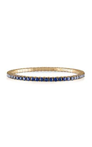 Fit For Life Jewels 18K Gold Blue Sapphire Bracelet