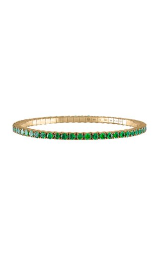 The Fit For Life Jewels® Stretch & Stack 18K Yellow Gold Tsavorite Bracelet