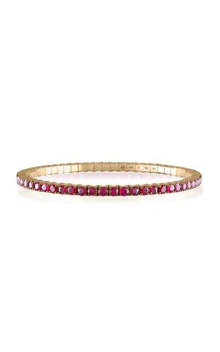 Fit For Life Jewels 18K Gold Ruby Bracelet