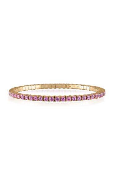 Fit For Life Jewels 18K Gold Pink Sapphire Bracelet