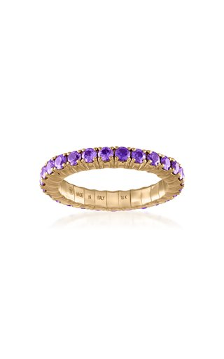 Fit For Life Jewels 18K Gold Purple Sapphire Ring