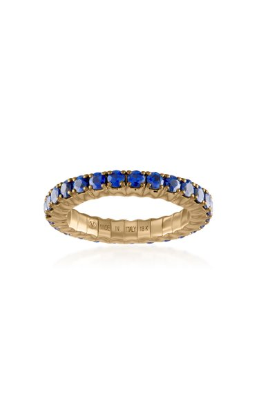 Fit For Life Jewels 18K Gold Blue Sapphire Ring
