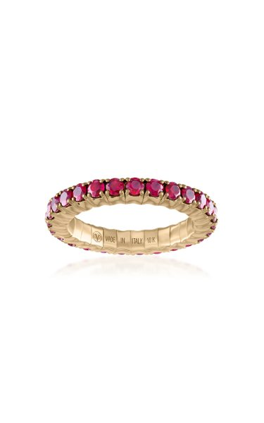 Fit For Life Jewels 18K Gold Ruby Ring