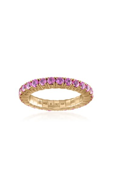 Fit For Life Jewels 18K Gold Pink Sapphire Ring