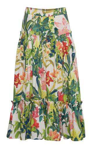 Tisbury Cotton-Poplin Midi Skirt