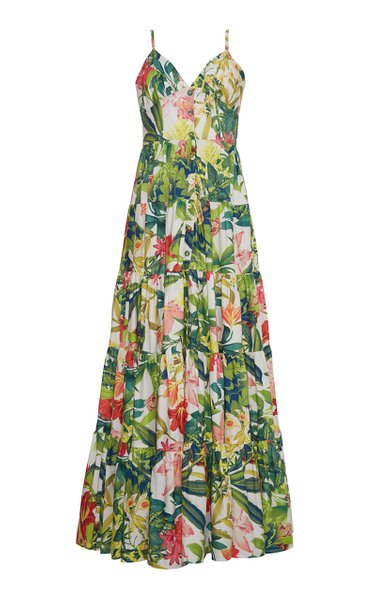 Nathali Floral Cotton-Poplin Dress