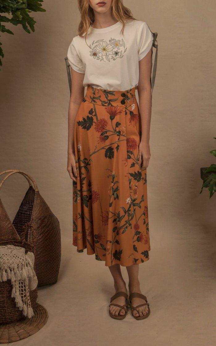 Paraiso Crepe Midi Skirt