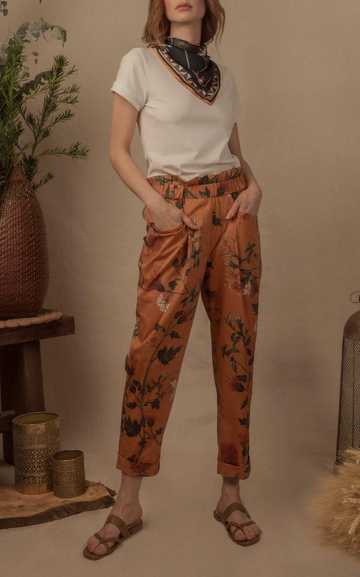 Daisy Cropped Cotton Poplin Pants