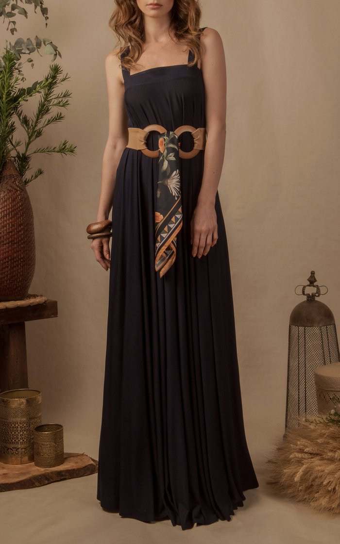 Narciso Sleeveless Stretch Crepe Maxi Dress