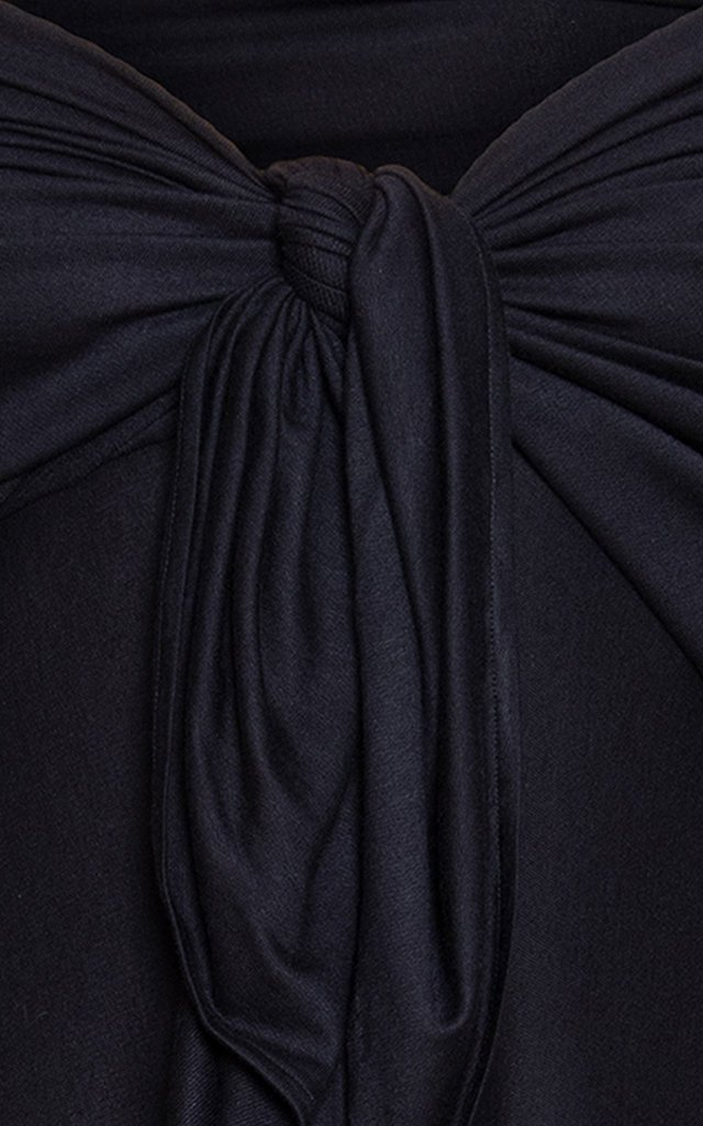 Violeta Off-The-Shoulder Stretch-Cotton Maxi Dress