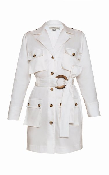 Garcia Belted Cotton Trench Coat Dress