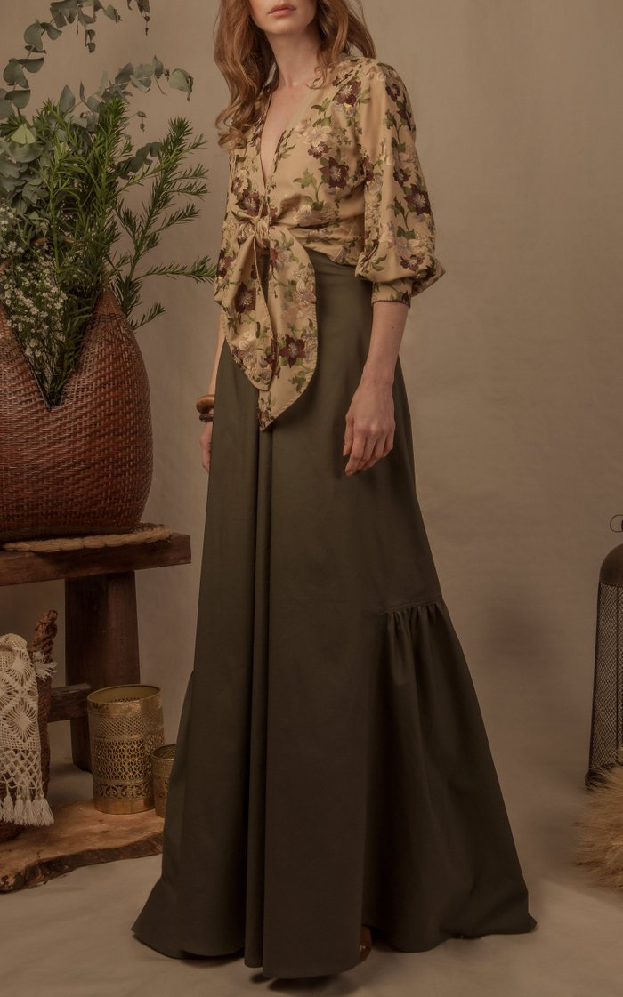 Rosal Cotton Tie Blouse
