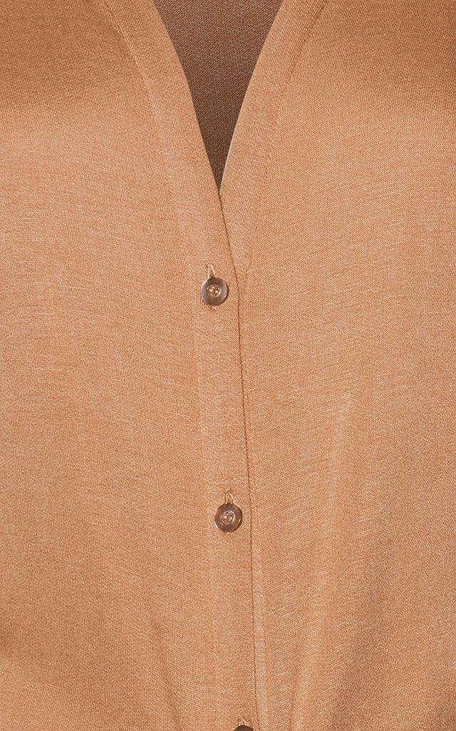 Victoria Stretch Crepe Tie Blouse