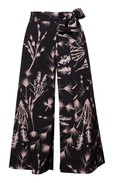 Crisantemo Wide Leg Cropped Pants
