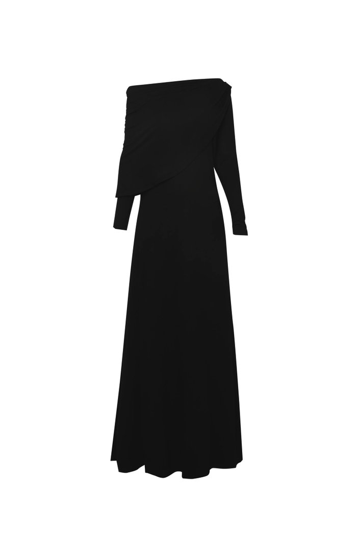 Camery Asymmetrical Stretch Maxi Dress