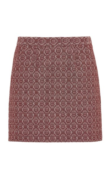 The Theo Wool-Cashmere Blend Mini Skirt