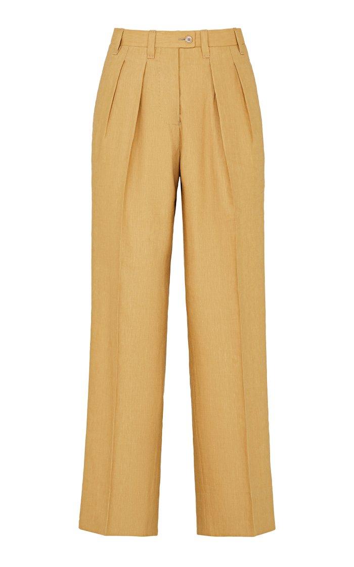 The Venicia Linen-Wool Blend Trousers