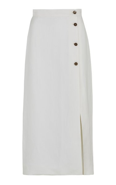 The Sadie Linen-Silk Blend Skirt