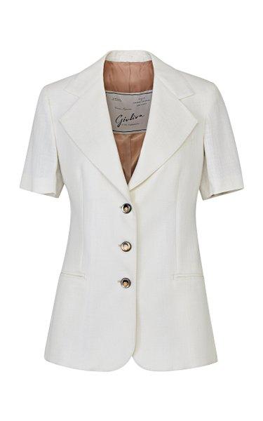 The Ginestra Wool-Cotton Blend Blazer