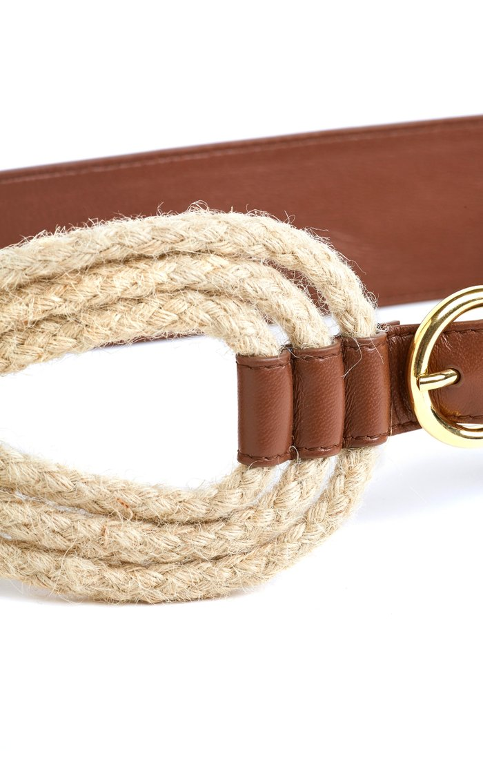 The Bridle Leather Rope Waist Belt