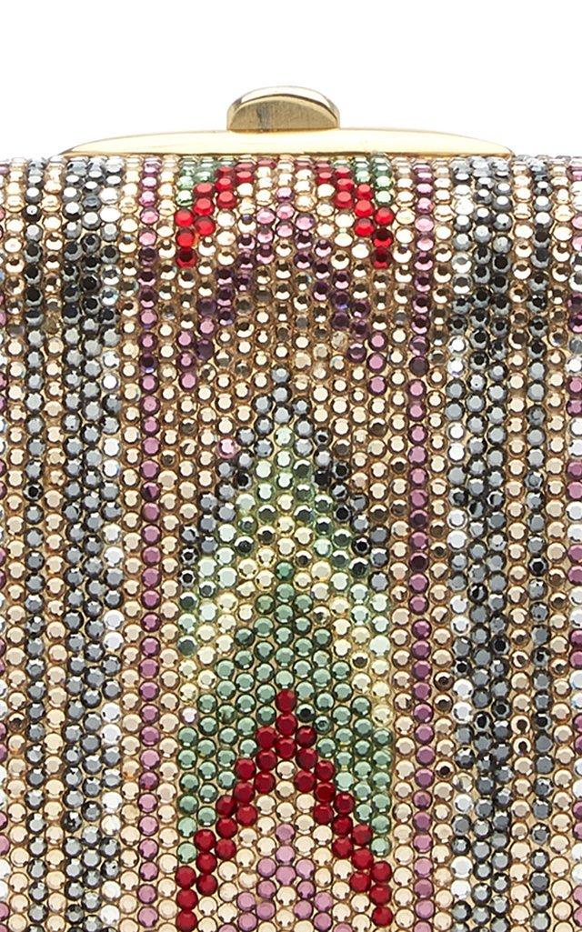 Vintage Mix Slim Rectangle Crystal Archive Clutch