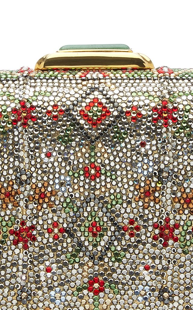 Vintage Mix Large Rectangle Crystal Archive Clutch